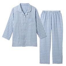 ガーゼレディスシャツパジャマ