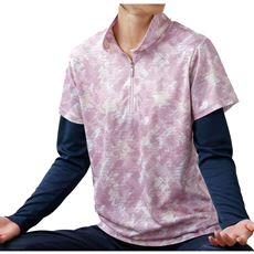 フェイクレイヤードTシャツ(kaepa)(吸汗速乾・UVカット)