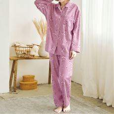 起毛ビエラのゆったりシャツパジャマ(綿100%)