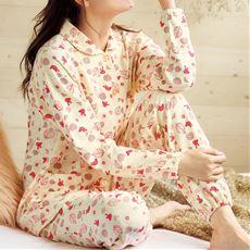 着脱しやすい綿100%ニットパジャマ(乾燥機対応)
