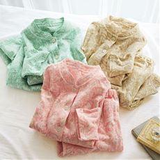 表裏綿100%ふんわりニットキルトパジャマ(日本製)
