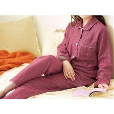 3重ガーゼ裏起毛のやわらかシャツパジャマ(綿100%・播州織・日本製)