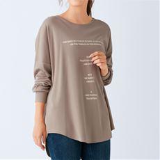 【ぽっちゃりさんサイズ】ドロップショルダープリントTシャツ(ゆったりサイズ)(綿100%)
