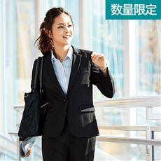 テーラードジャケット(事務服・カットソー素材)/スーツなのに動きやすい