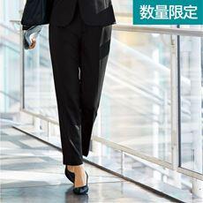 9分丈ストレートパンツ(事務服・カットソー素材・ウエスト後ろゴム仕様)/スーツなのに動きやすい