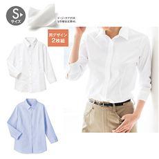 形態安定2枚組レギュラーカラーシャツ(七分袖)