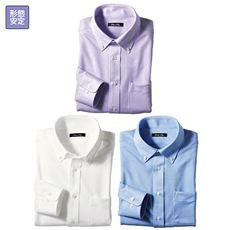 形態安定ニットシャツ