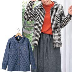 中綿キルティングシャツジャケット