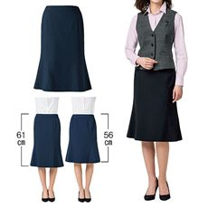 マーメイドスカート(2丈)(事務服・洗濯機OK)