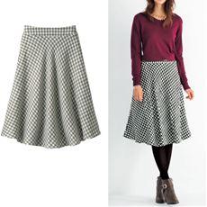 ファンシーツイードフレアスカート(選べる2レングス)