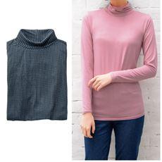 スマートヒートルーズネックTシャツ(S~5L・静電気防止・吸湿発熱・吸汗速乾)