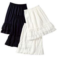 裾デザインペチスカート
