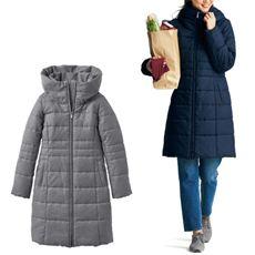 ボリューム襟蓄熱中綿コート(手洗いOK)