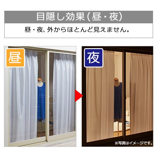 【オーダー】バラとストライプのUVカット遮熱保温・遮像レースカーテン