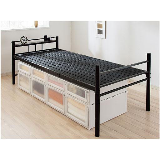 高さ調整樹脂すのこベッド 通販  セシール(cecile)