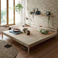 並べて使えるシンプルひのきすのこベッド