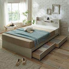 スマホ対応収納ベッド