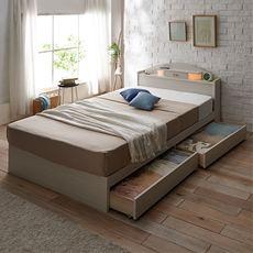 ツインライトの収納ベッド