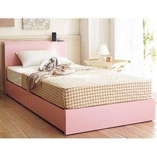 棚付きシンプル収納ベッド
