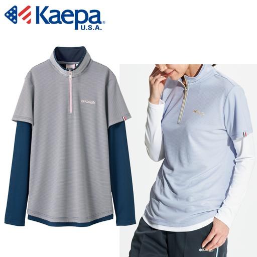 614ed72c5a2 フェイクレイヤード長袖Tシャツ(Kaepa)(吸水速乾・UVカット) - セシール ...