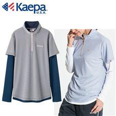 フェイクレイヤード長袖Tシャツ(Kaepa)(吸水速乾・UVカット)