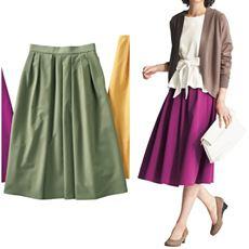 タック使いスカート(選べる2レングス)