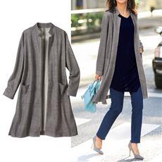 ロングジャケットコート(手洗いOK)