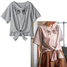 刺繍ブラウス(綿100%)