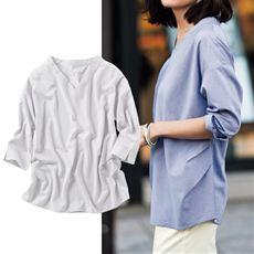 スマートドライゆったりプルオーバー(7分袖)(吸汗速乾・接触冷感・UVカット・抗菌防臭・形態安定)