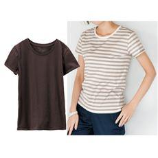 クルーネックTシャツ(綿100%)