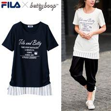 レイヤード風Tシャツ(FILA×ベティー)