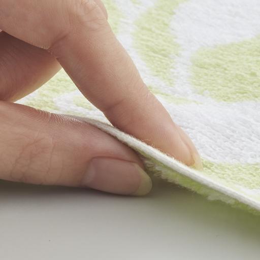 ジャカード織リーフ柄タオル(同色2枚組)