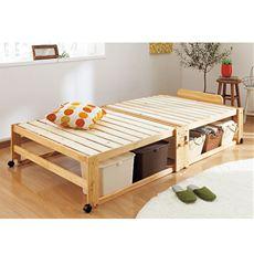 ひのき香る木製折りたたみベッド