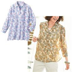 プリントスキッパーシャツ(8分袖)