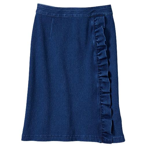 フリルデニムタイトスカート