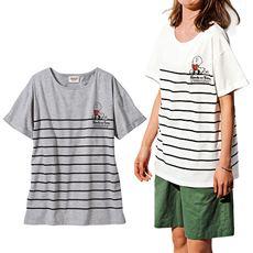 ボーダーTシャツ(スヌーピー)