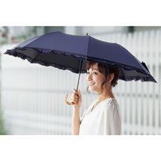 広げると大きいショートワイド晴雨兼用傘