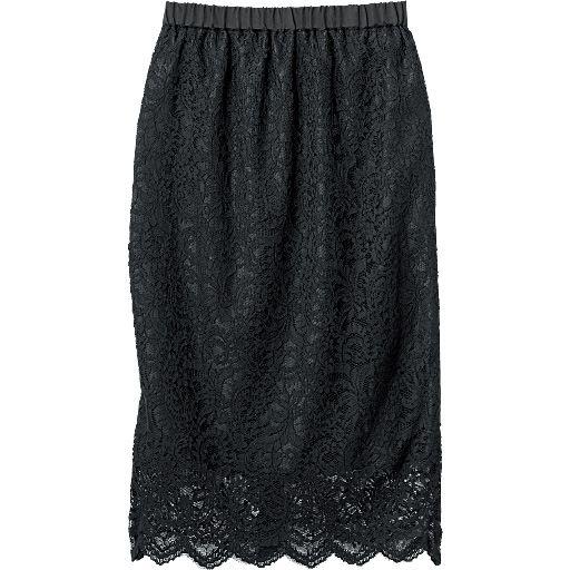 レースロングタイトスカート