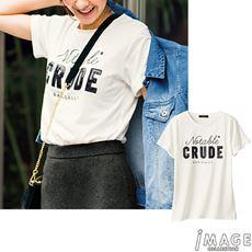 ロゴ刺しゅうTシャツ