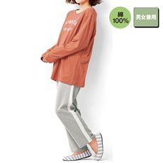 ロゴTタイプパジャマ(男女兼用・綿100%)