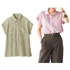 テンセルリネンダブルポケットシャツ(接触冷感)