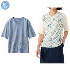 プリントTシャツ(5分袖)(綿100%)