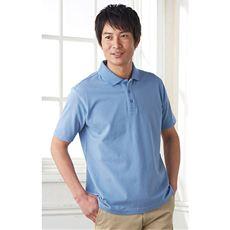 鹿の子半袖ポロシャツ(男女兼用)