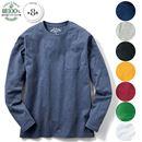 綿100%クルーネックTシャツ(長袖)(S~7L)
