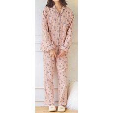 ネル起毛シャツパジャマ(綿100%)