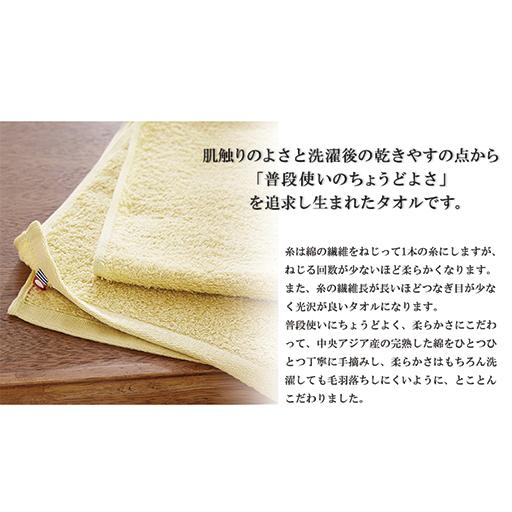 普段使いにちょうどいいタオル。