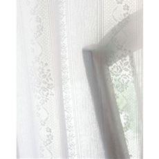 バラとストライプのUVカット遮熱保温・遮像レースカーテン