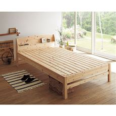棚付きひのきすのこベッド