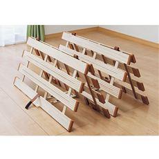 桐天然木すのこベッド(四つ折れ式)