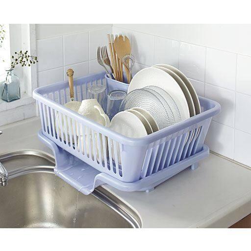 皿立て水切りかご(箸立て付き)